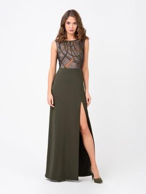 Сукня кольору хакі | 4780524