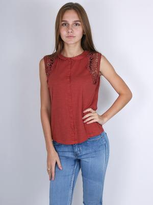 Блуза бордовая | 4576599