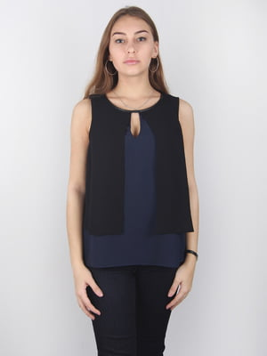 Блуза сине-черная | 4732204