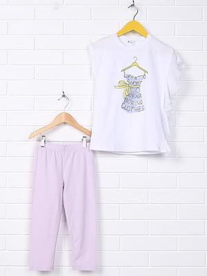 Комплект: леггинсы и футболка | 4781292