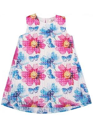 Платье в цветочный принт | 4781358
