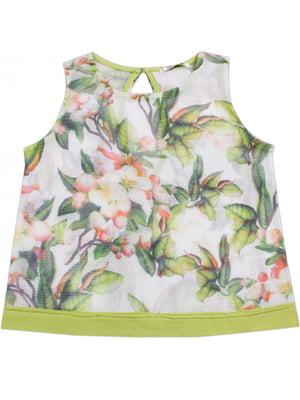 Блуза в цветочный принт | 4781480
