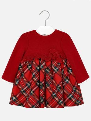 Платье красное в клетку | 4781640