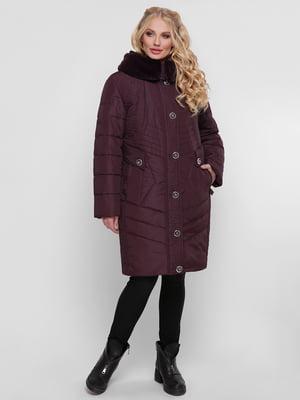 Пальто бордовое   4781720