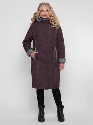 Пальто бордовое   4781728