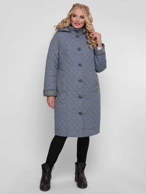Пальто сіро-блакитне | 4781729