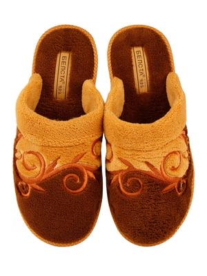 Тапочки коричневі | 4782908