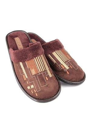 Тапочки коричневі | 4782911