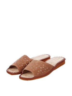 Тапочки коричневые | 4599440