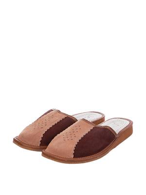 Тапочки коричневі | 4599484