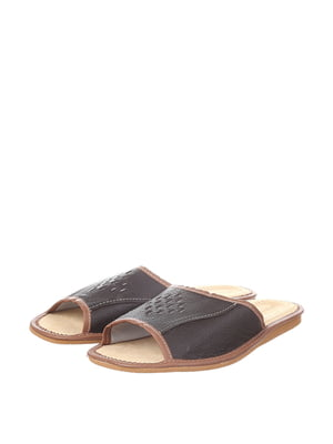 Тапочки темно-коричневые | 4599500