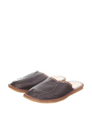 Тапочки темно-коричневі | 4599517