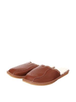 Тапочки коричневые | 4599545
