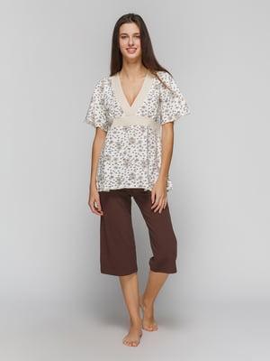 Пижама: футболка и капри | 4782926