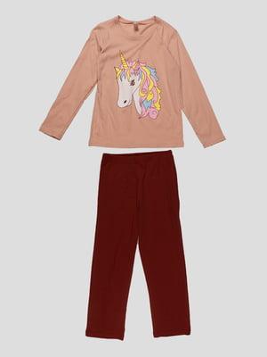 Піжама: лонгслів і штани   4782938