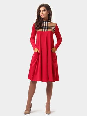 Платье красное в клетку | 4784878