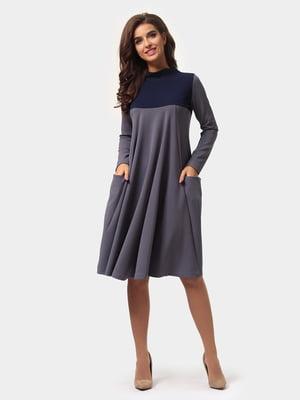 Сукня графітово-синя | 4784882
