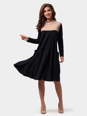 Платье черно-бежевое | 4784884