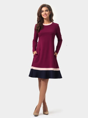 Платье бордовое | 4784889