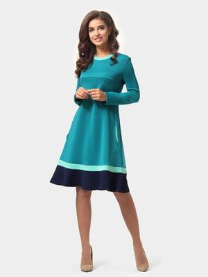 Платье бирюзово-синее | 4784893
