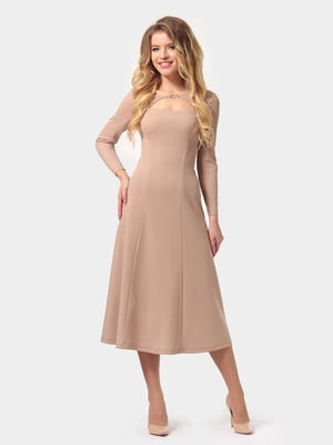 Сукня пісочного кольору | 4784933