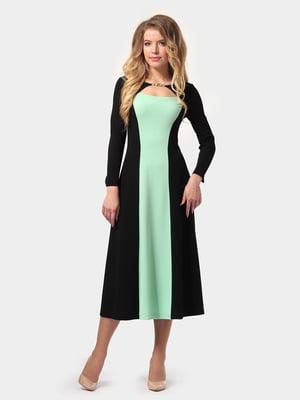 Платье бирюзово-черное | 4784936