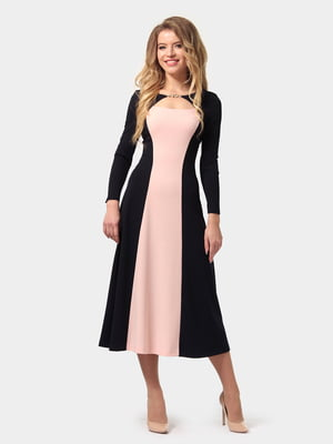 Платье сине-розовое | 4784937