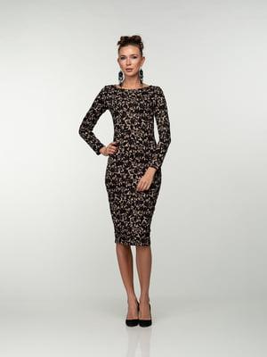 Платье черное в принт | 4785350