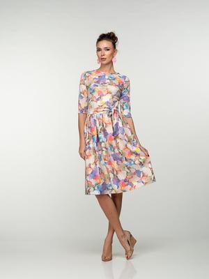 Сукня в різнобарвний акварельний принт | 4785360