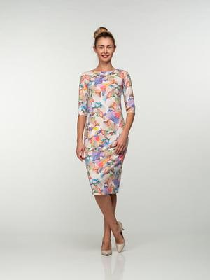 Платье в акварельный принт | 4785366