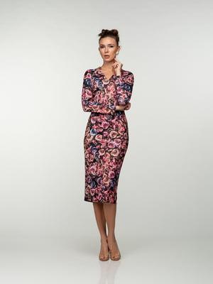 Платье в цветочный принт   4785397