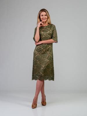 Платье цвета хаки | 4785414