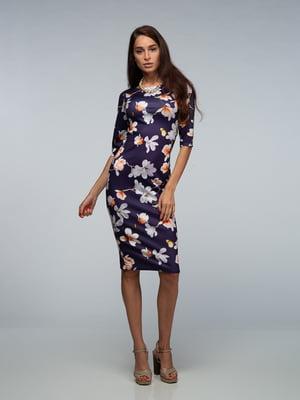 Сукня фіолетова в квіти | 4785423