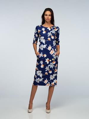 Платье фиолетовое в цветы | 4785429
