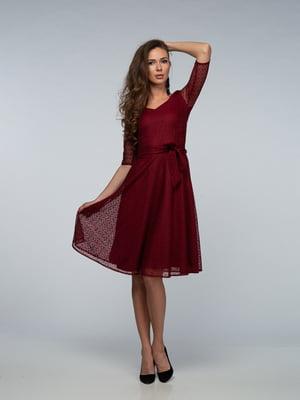 Платье бордовое | 4785486