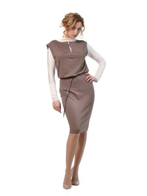 Сукня-сарафан кольору мокко | 4723945