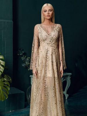 Платье бежевое-золотистое | 4788162