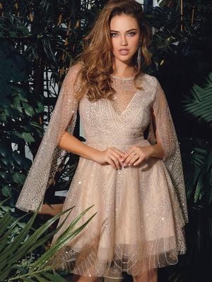 Сукня бежево-срібляста | 4788165