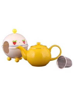 Чайник заварювальний з ковпаком «Полуничка» (750 мл) | 4788203