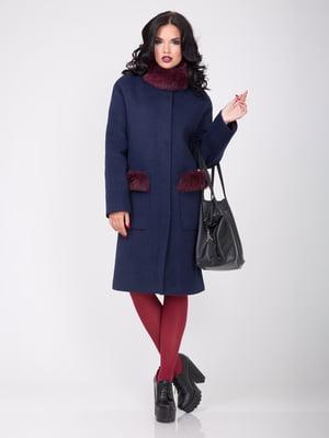 Пальто темно-синє | 4661645