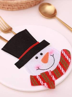 Новорічна прикраса для столових приборів «Санта» | 4788893