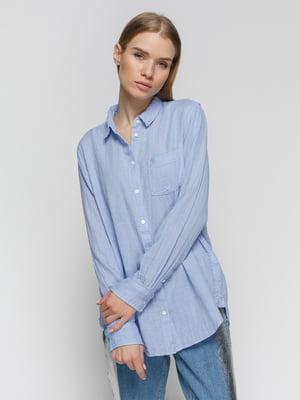 Рубашка голубая в полоску | 4776172