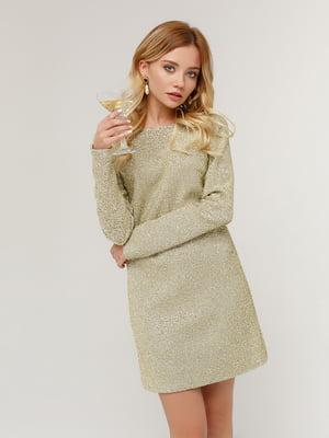 Платье золотистое | 4784533