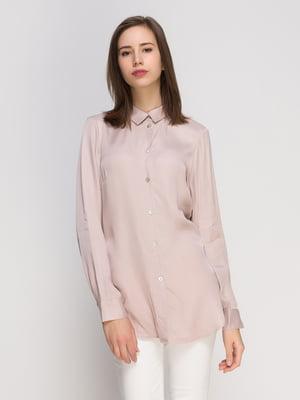 Сорочка кольору пудри | 4776123