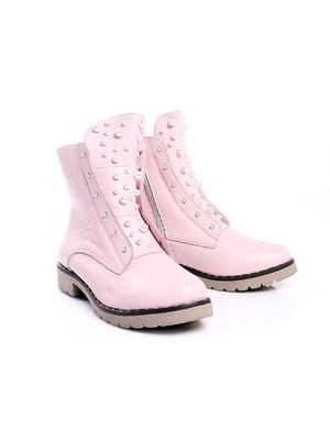 Ботинки цвета пудры | 4777807