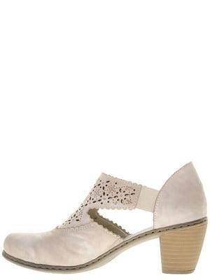 Туфли серо-бежевые | 4798202