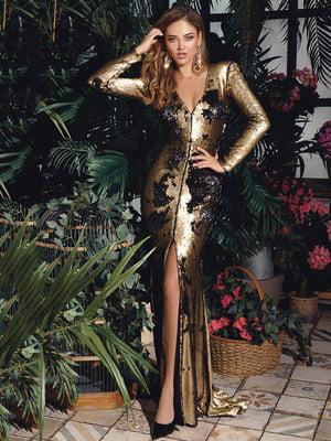 Сукня чорно-золотиста | 4800173