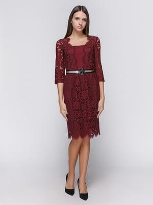 Платье бордовое | 4768269