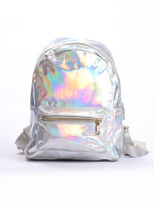 Рюкзак голографічний сріблястий | 4808276