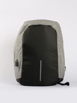 Рюкзак протикрадій з USB сірий | 4808279